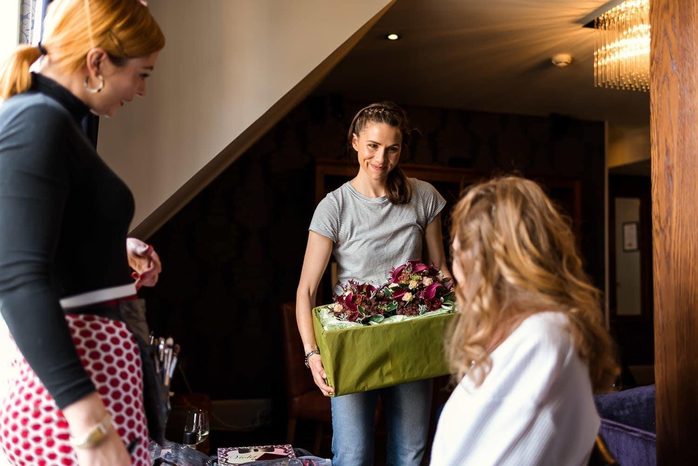 Wedding flowers at Hotel Du Vin Edinburgh