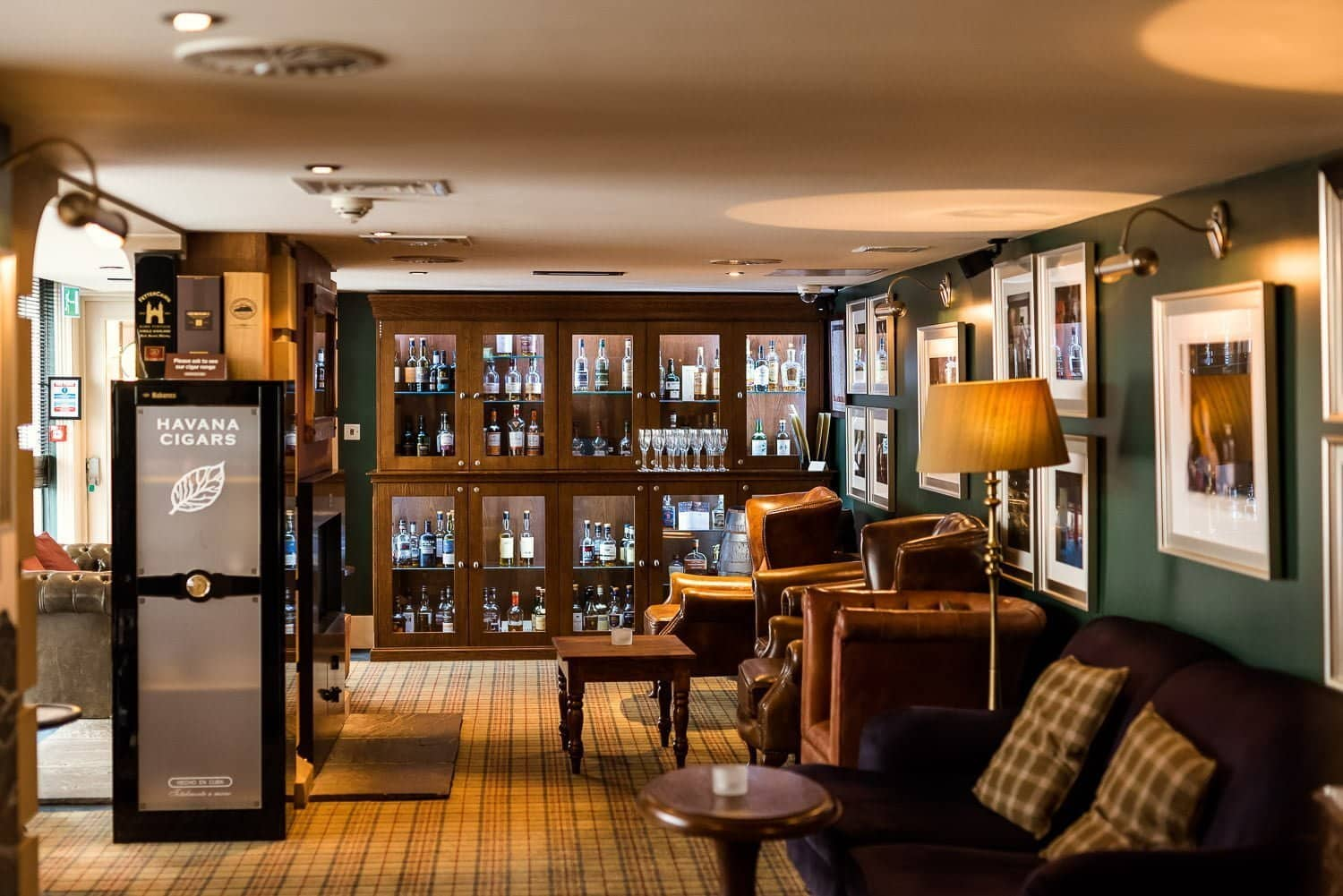 Whisky snug room at Hotel Du Vin Edingburgh