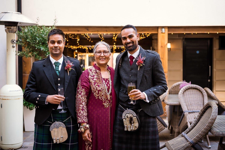 Family photos at Hotel Du Vin Edinburgh