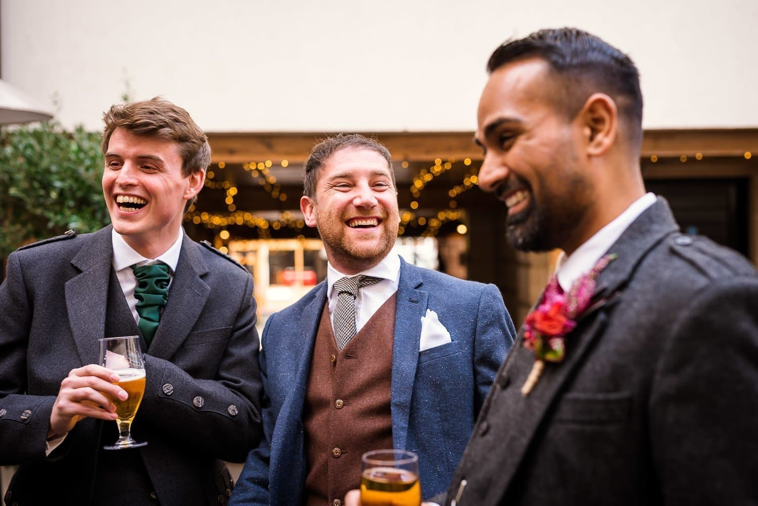 Groom and Groomsmen at Hotel Du Vin Ediburgh