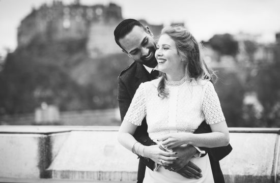 Edinburgh bridal portraits