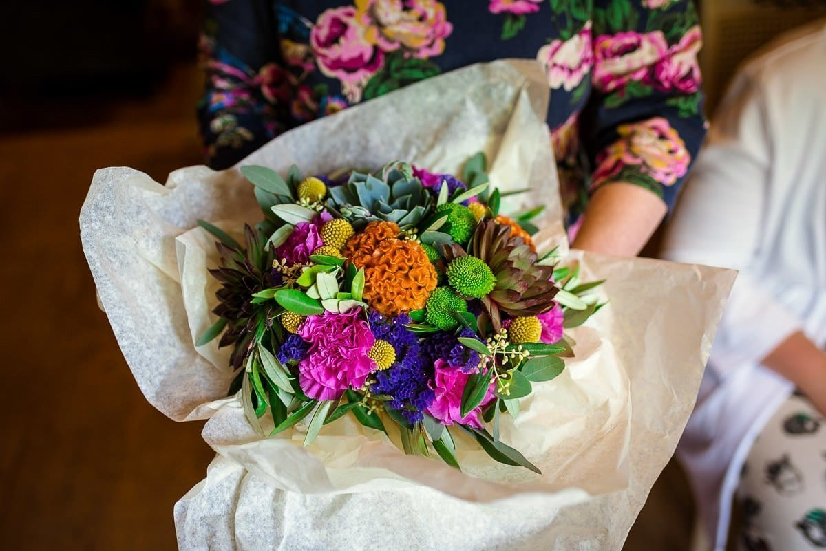 Wedding bouquet at Hautbois Hall