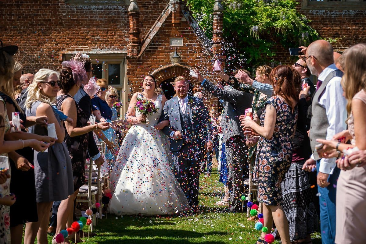 Wedding ceremony at Hautbois Hall