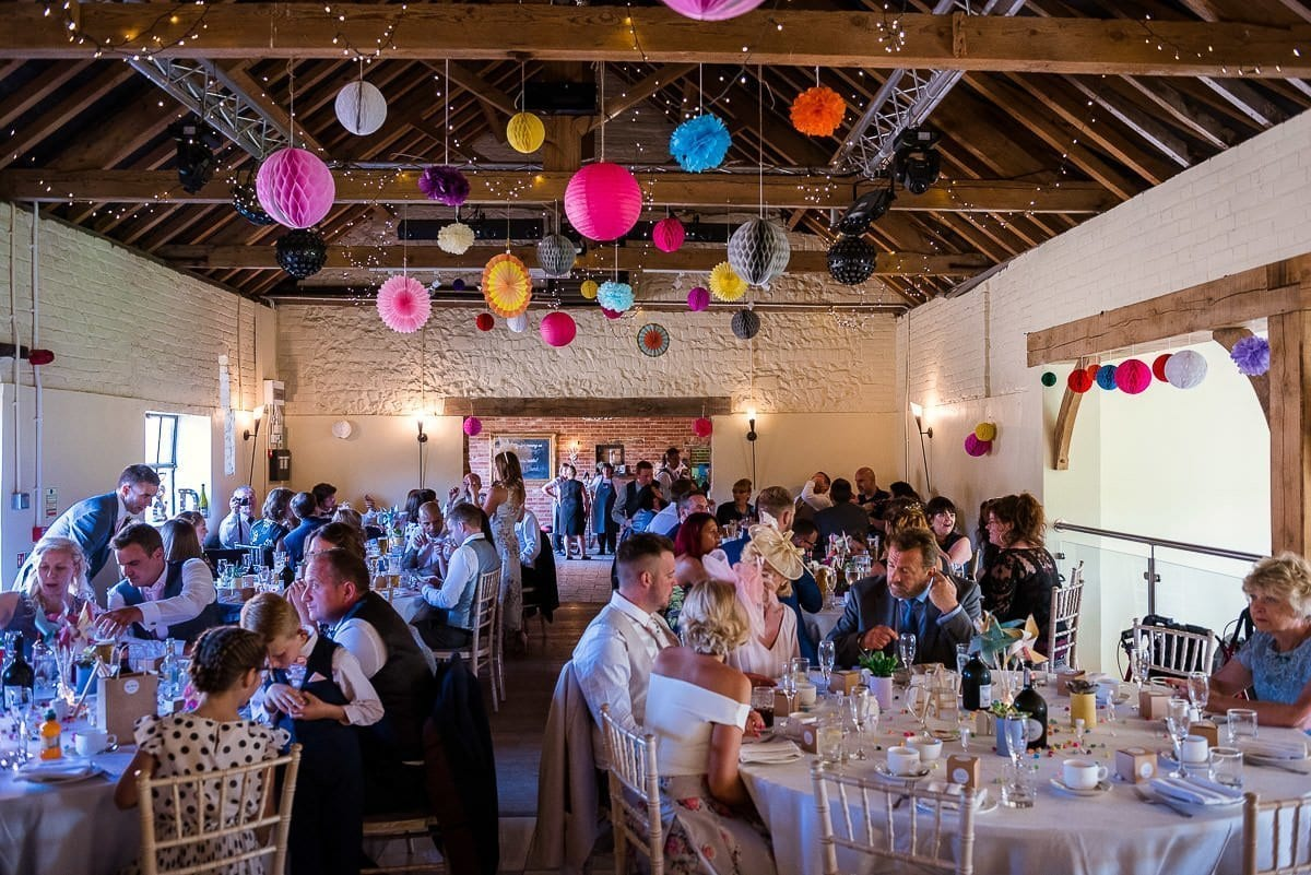 Hautbois Hall summer wedding reception