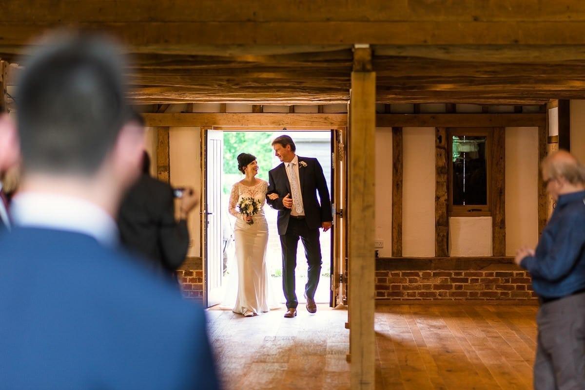 Blake Hall wedding barn bridal entrance