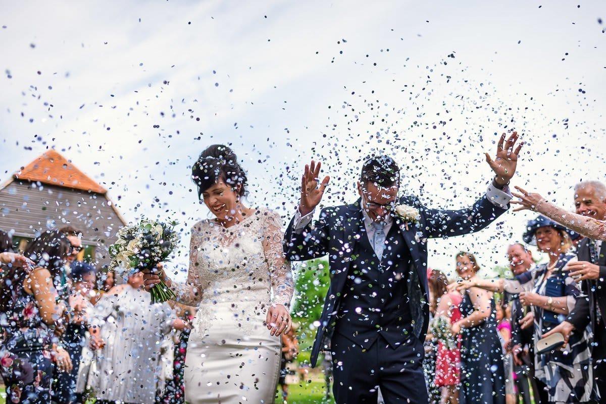 Blake Hall Wedding confetti