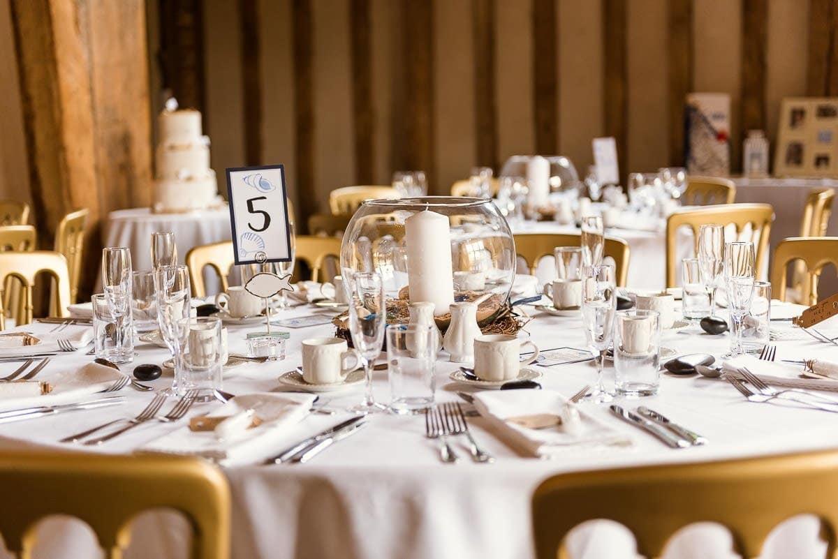 Blake Hall Wedding table set up