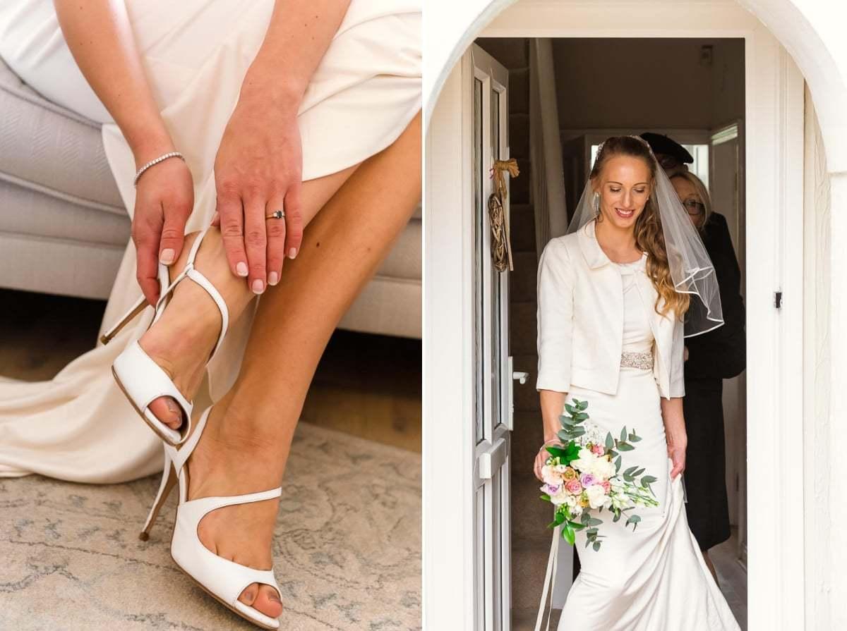 Bridal prep for wedding at Norwich Castle