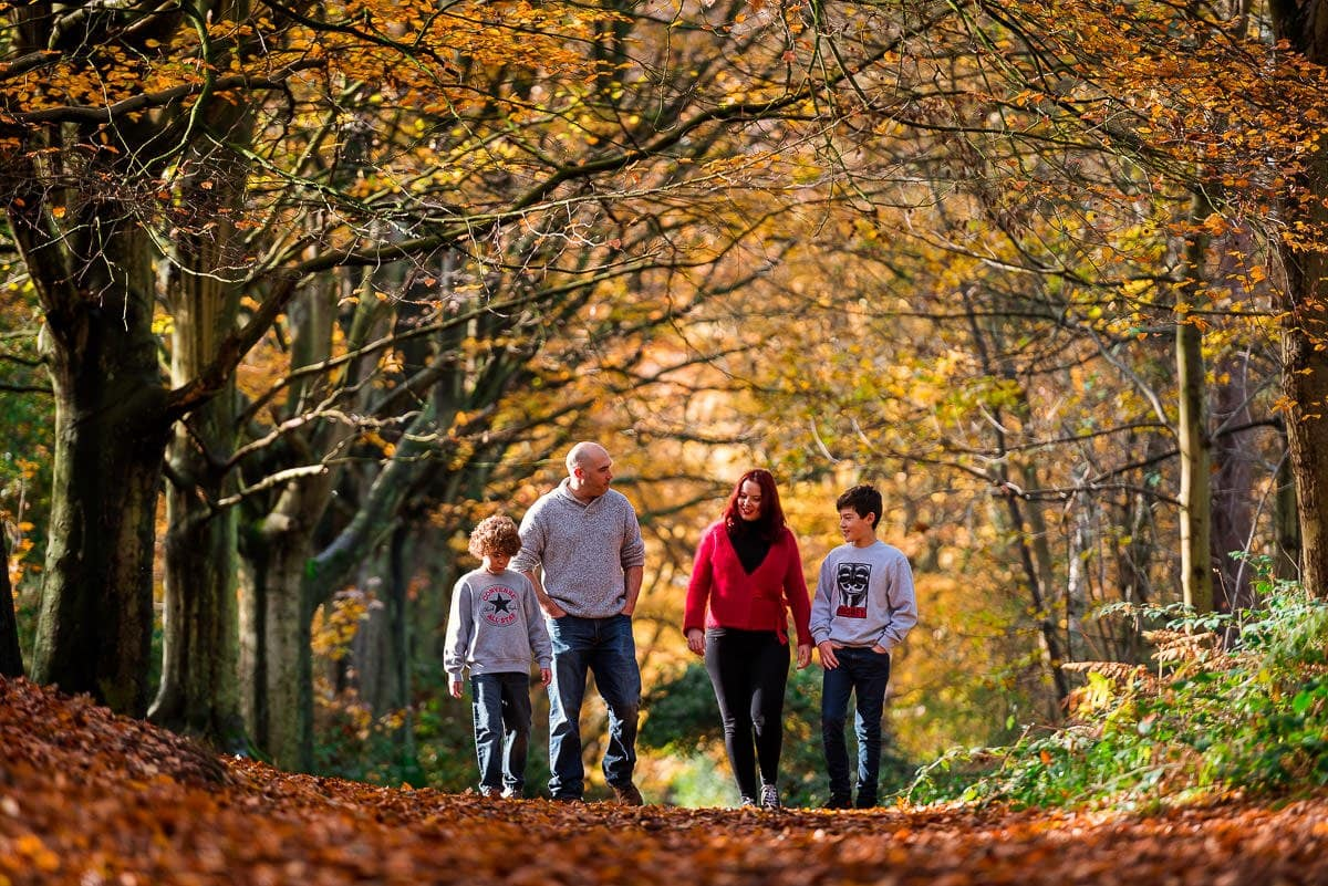 Autumnal Family Photography in beautiful Norwich woodlands