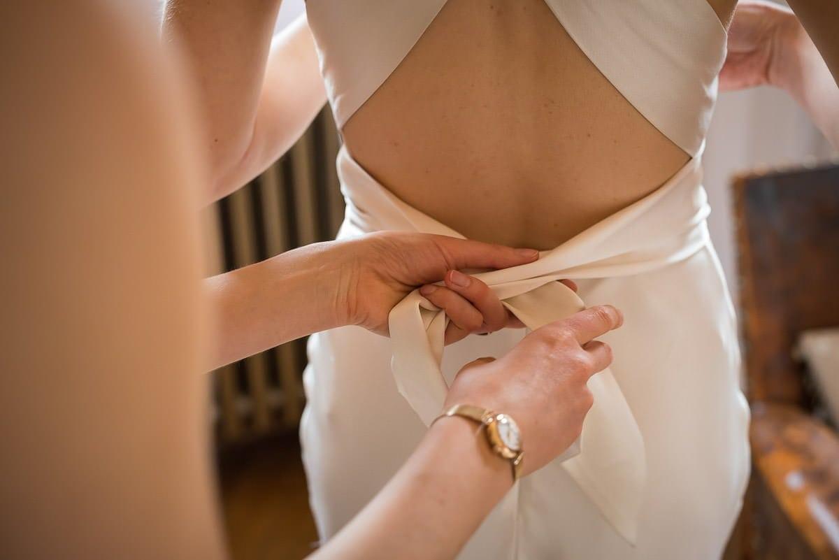 Bridal prep at Voewood