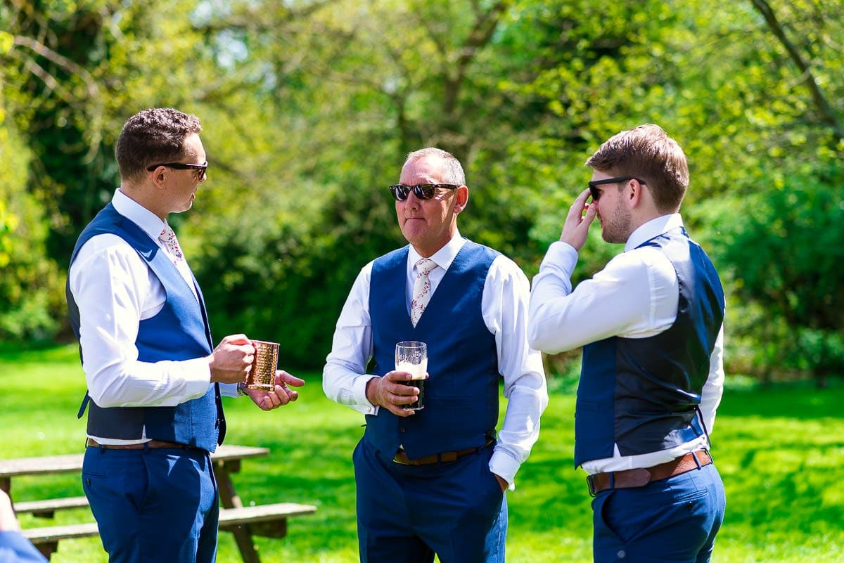 Groom drinks at The White Hart