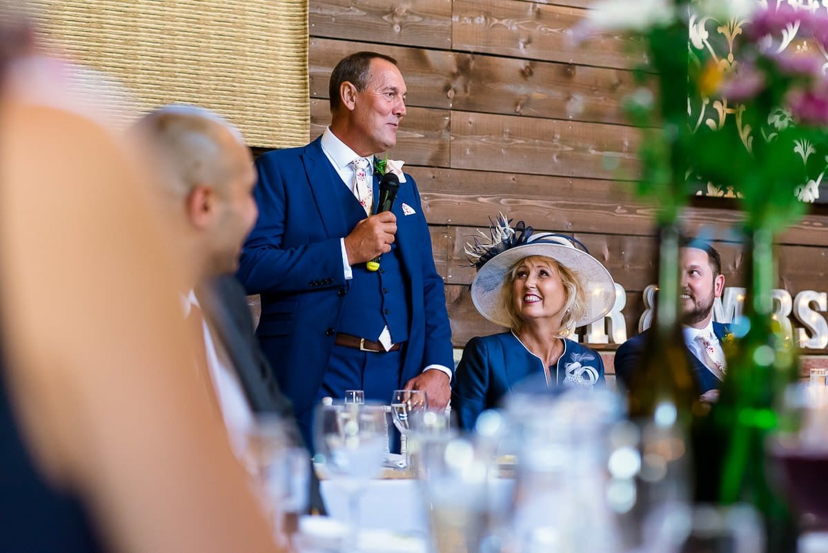 Wedding speeches at Essex Barn