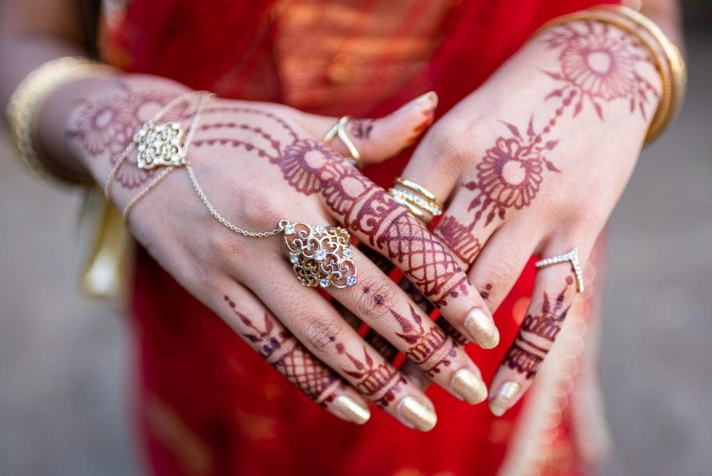 Nairobi Indian wedding hand art