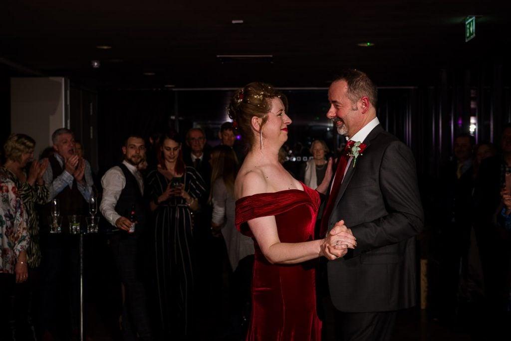 First dance at Norfolk Mead Hotel wedding
