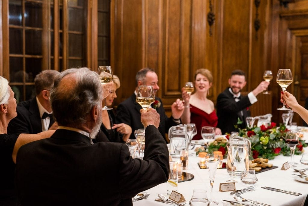 St. Giles House Hotel Wedding meal