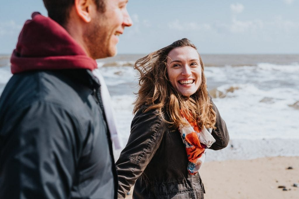 Beautiful Norfolk beach engagement session