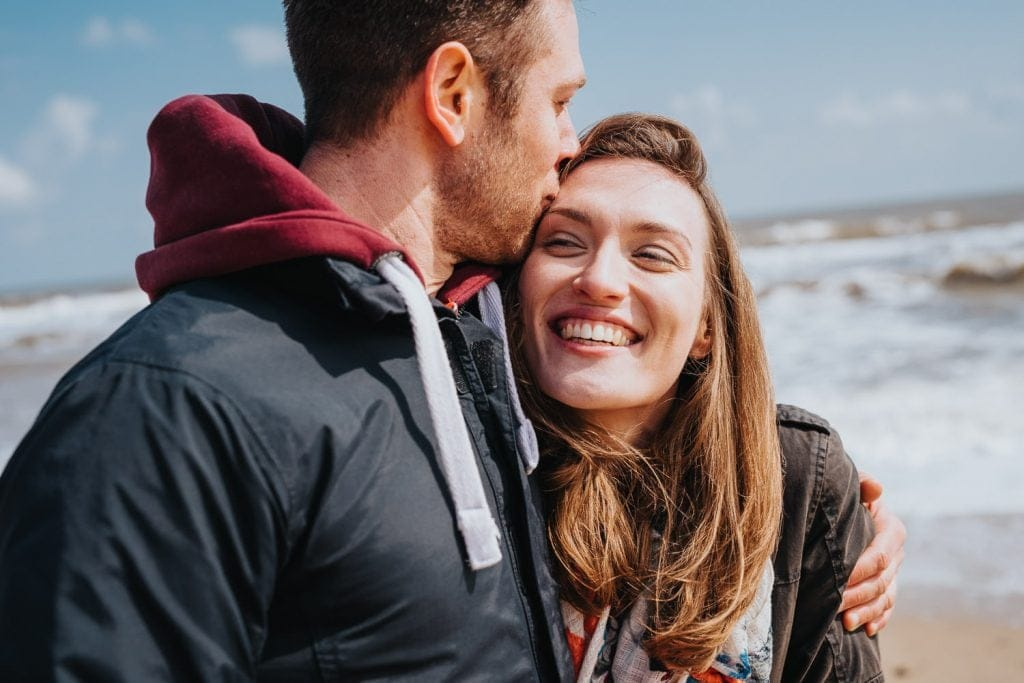 Beautiful Norfolk beach engagement photography session