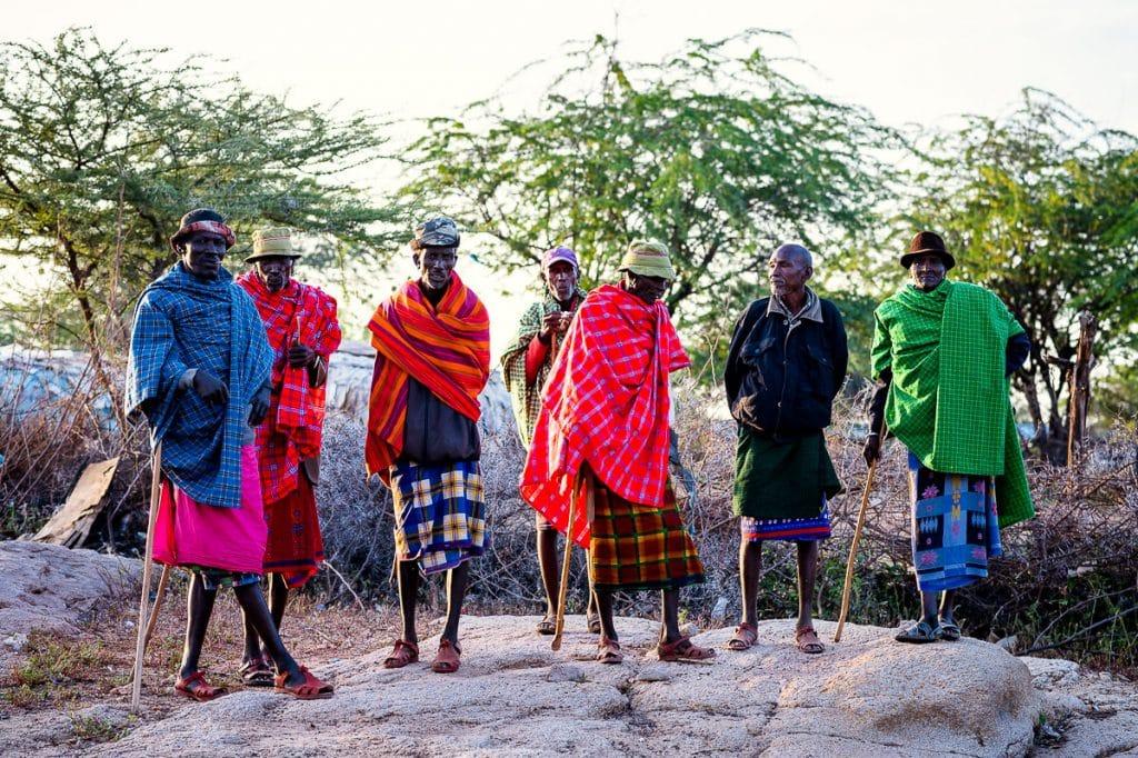 Samburu elders at a wedding