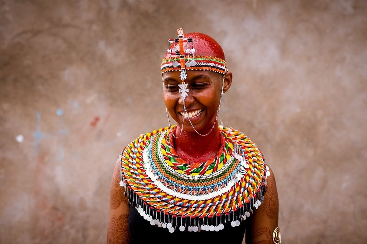 Traditional Samburu bride