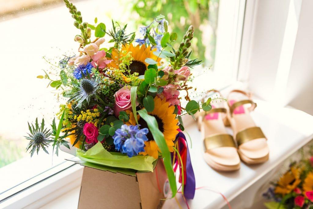 Festival wedding bridal bouquet