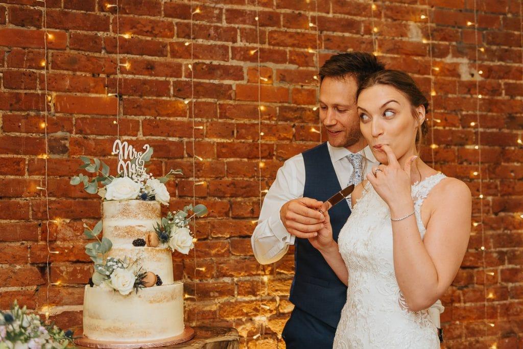 Wedding cake at Norfolk Mead Hotel wedding