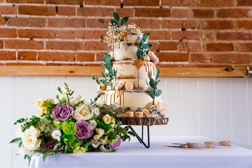 Incredible wedding cake at Manor Mews