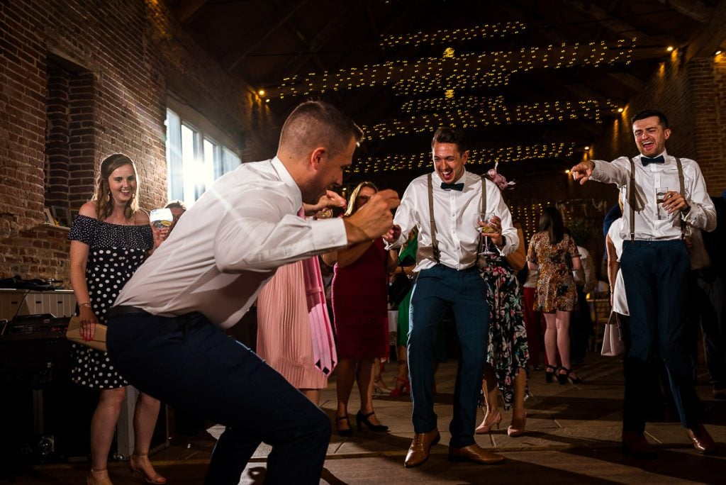 Fun dancing at Manor Mews Wedding Reception