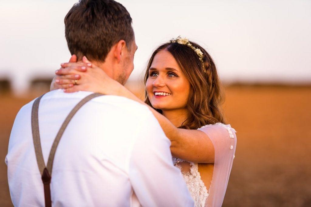 Sunset wedding portraits at Manor Mews