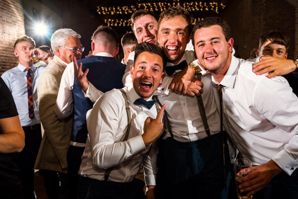 Wedding reception portraits at Manor Mews