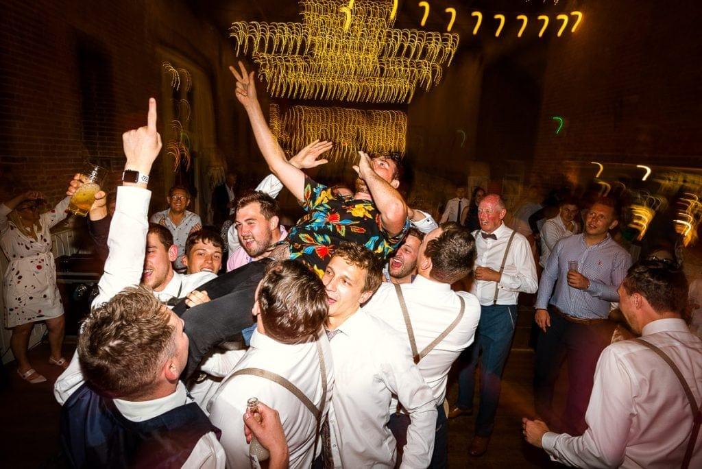 Festival Folk band singing during wedding at Manor Mews