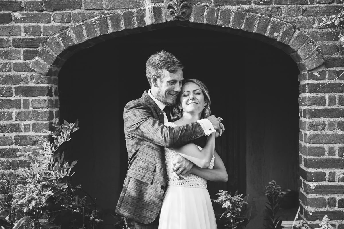 Couple portraits during small and intimate wedding