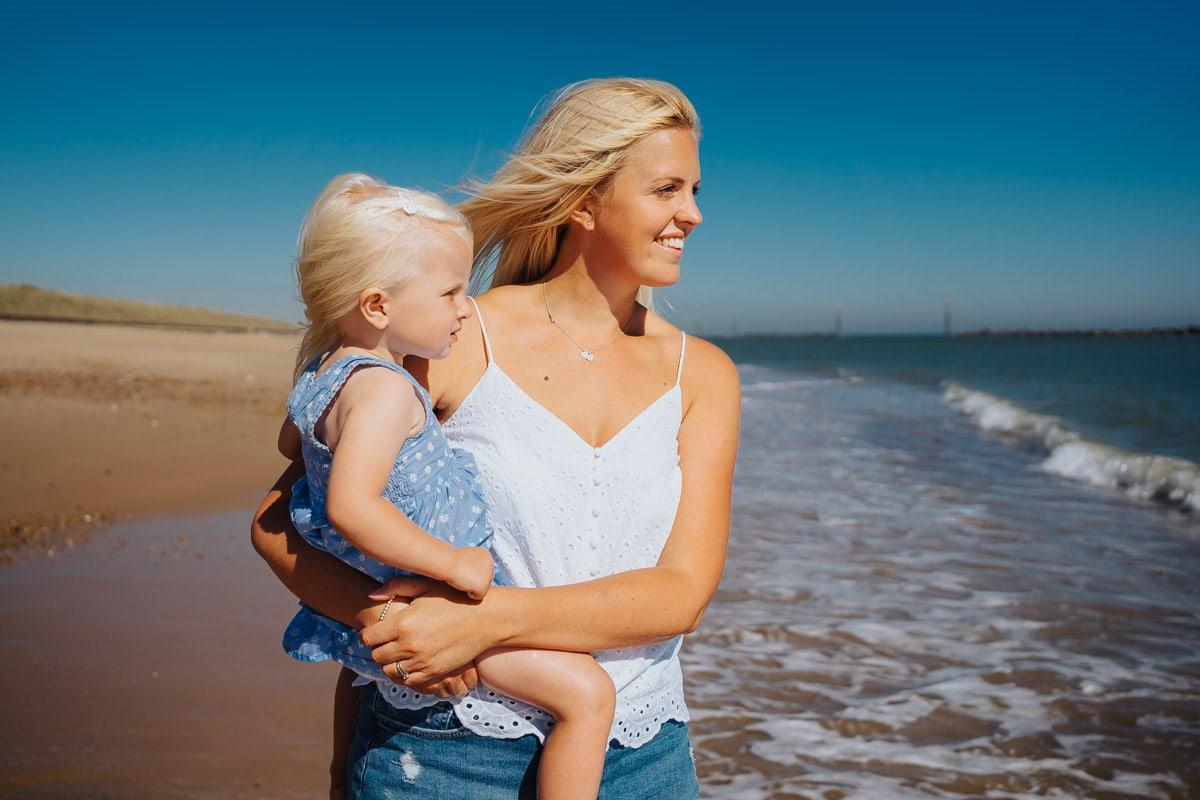 Waxham beach family photography